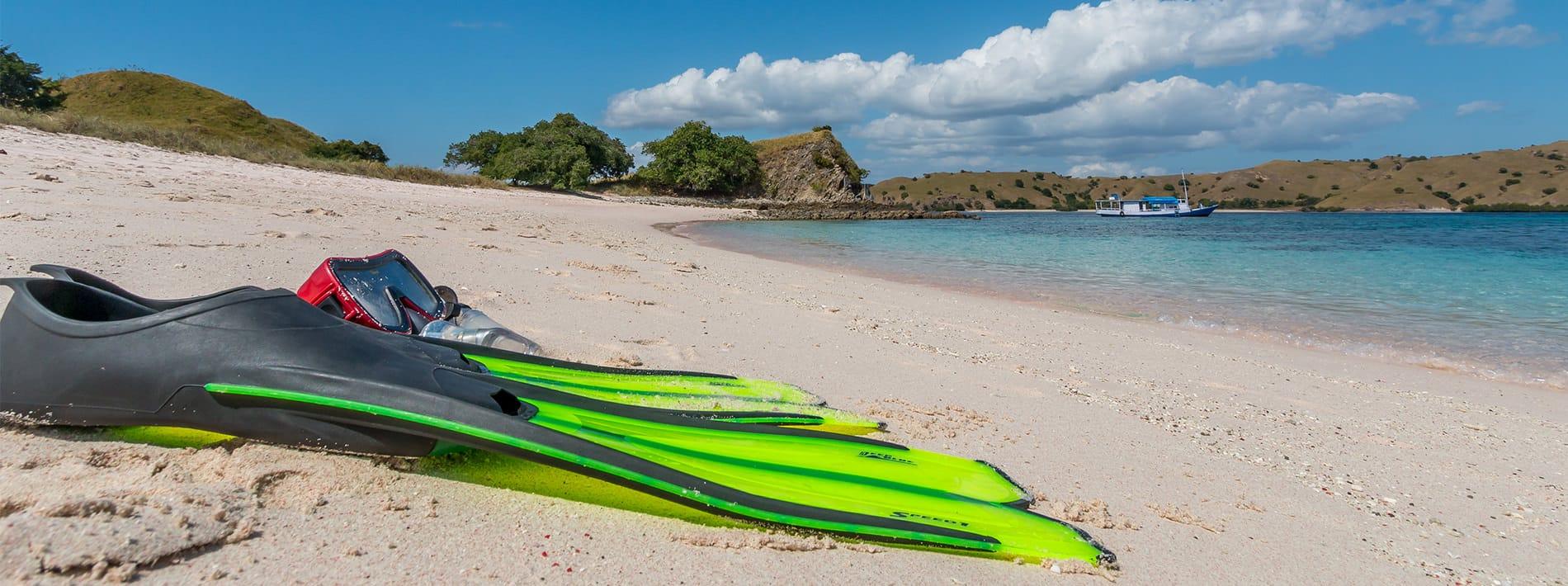 Pink Beach Sand Fin Snorkeling