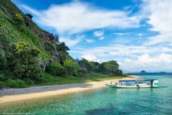 Beach Turquoise Water White Sand Beach Komodo National Park Indonesia Labuan Bajo