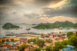 Harbour Panorama Labuan Bajo Flores Indonesia