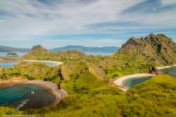 Padar Island three beaches pink black white green nature