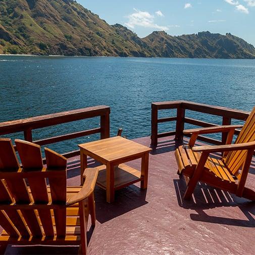 Alcira Phinisi Boat Liveaboard Back Deck Private