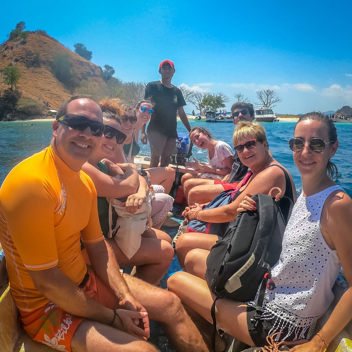 Komodo trip Shared at Kelor with Clients Smiling